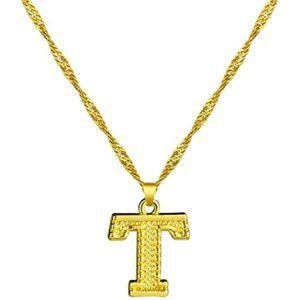 Women 18K Gold Plated A-Z Letter Pendants Necklace